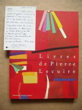 Livres de Pierre LECUIRE / Catalogue de la B.N.F. + Carte signée - 2001