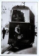 Ansichtskarte: alte Straßenbahn, Barcelona 1951, Spain