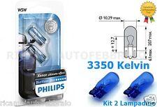 LAMPADA AUSILIARIA LUCE BIANCA PHILIPS T10 BLUE VISION LANCIA KAPPA 95>01