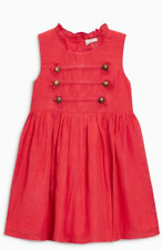 Girls dress NEXT baby 6 9 12 18 months 1.5 2 3 4 5 years NEW red military style