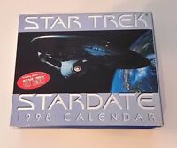 Star Trek First Contact Collectible StarDate Desk Calendar 1998 Unused New Box