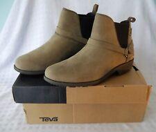 Teva De la Vina Dos Womens Premium Leather Calf Boots Black UK 6 EU 39 RRP£100
