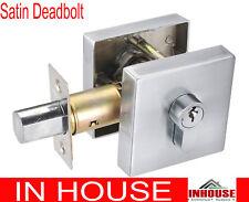 Door handles locks dead bolt double side keys Satin finish 6502SQ free shipping