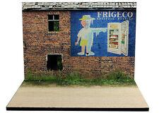 """Diorama présentoir Publicité murale """"Frigéco"""" - 1/43ème - #MR43B005"""
