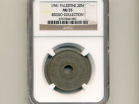 Palestine:KM-5, 20 Mils, 1941 * RARE Date * NGC AU 55 *