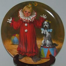 Reco Knowles McClelland Children'S Circus Collector Plate (1991) Tommy The Clown