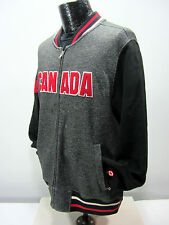 Hudson Bay Co. Canada Olympic Men's M  Gray Athletic Fleece Jacket Full Zipper