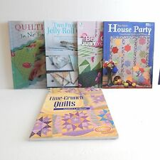Quilting Books Lot Of 5 Titles Time-Crunch House Party Jelly Rolls Bed Quilts