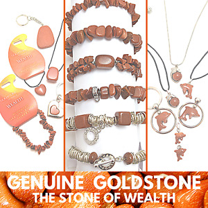 GOLDSTONE Wholesale Pack Gemstone Jewellery Bracelets Pendants Charms or Hearts