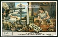 Weaving Loom And Pottery In Prehistoric Europe House 1930s Trade AdCard