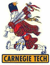 Carnegie Tech  College University bagpipe Vintage Looking Travel Decal  Sticker