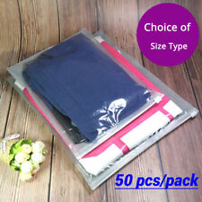 Clear Gray Non-woven Packaging Zipper Bags Reclosable For Clothes Underwear C3