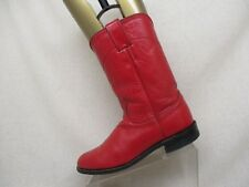 Justin Roper Red All Leather Cowboy Western Boots Womens Size 9 A Style L3055