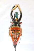 AX8 Guro Baule Maske alt Afrika / Masque Gouro ancien / Old tribal mask Africa