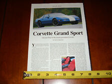 1996 CORVETTE GRAND SPORT - ORIGINAL ARTICLE