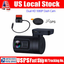 Mini 0906 Dual 1080P Lens Car Dash Camera Gps Dvr Cam Remote Control Loop Record