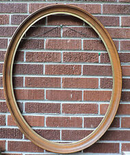 Vintage Victorian STYLE Maple Wood OVAL Picture Frame 22 x 28 ins. c 1950-60s