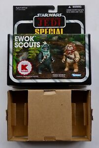 STAR WARS THE VINTAGE COLLECTION USA KMART EWOK SCOUTS RETAIL BOX & INSERT ONLY
