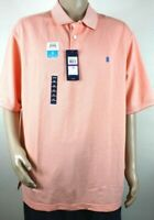IZOD Mens Big Tall Advantage Performance Stretch Peach Polo Shirt  Sz 2XL NWT