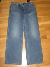 NEXT Wide Leg Mid Rise Jeans Size 8 Regular Leg 32 With Tags