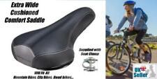 Extra Wide Soft Bike Saddle pad Seat Bicycle cushioned big bum comfort