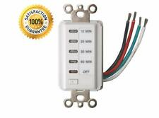 Teklectric Bathroom Auto Timer 10-20-30-60 Minute Preset Countdown Wall Switch