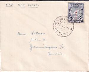 1954 THAILAND PHUKET unusual UNO FDC to AUSTRIA
