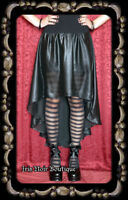 Lip Service Widow Cyber Victorian Gothic Lolita Black Chiffon Hi Low Skirt M