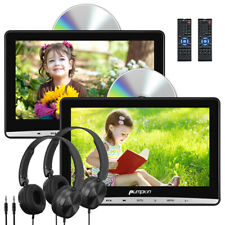 "10.1""Portable DVD Player Car Monitor Dual Screen USB SD AV IN/OUT1080P+Headphone"