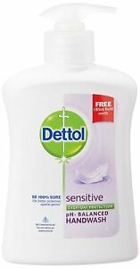Dettol Liquid Sensitive Handwash 200 Ml Free Dettol Original Liquid Pouch 175Ml
