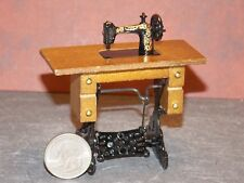 Dollhouse Miniature Sewing Machine cabinet 1:12 Inch Scale F60 Dollys Gallery