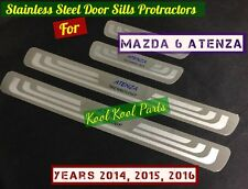 Mazda 6 Atenza Thin Stainless Steel Door Sill Scuff Plates for 2014, 2015, 2016
