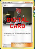 4X Mars 128/156 Pokemon Online Card TCG PTCGO Digital Card
