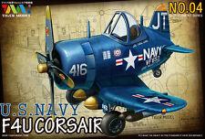 Tiger Model 104 WWII U.S.Navy F4U Corsair Fighter (Q Edition)