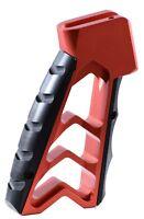 Aluminum Skeletonized Minimal Minimalist CNC Pistol Grip .223 5.56 .308 7.62 RED