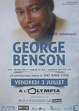 PUBLICITE GEORGE BENSON CONCERT A L'OLYMPIA PARIS MUSIQUE DE 2015 FRENCH AD PUB