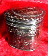 Antique Victorian Art Nuveau Heart Shape Intricate Solid Silver Box Hallmarked