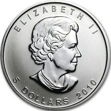 2010 1 oz Silver Canadian Maple Leaf Coin