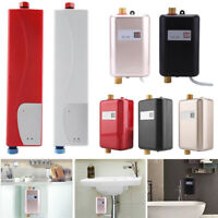 110V/220V Mini Instant Electric Tankless Hot Water Heater Shower Kitchen Bath BT