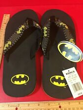 DC comics Batman Men's Flip Flops New Size 12/13 Retail $30      H1