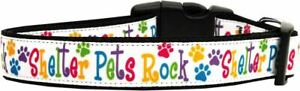 Shelter Pets Rock Nylon Dog Pet Puppy Collar