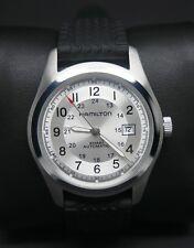 Campo Hamilton Caqui Dial Negro Reloj Automático de Hombre Militar 25 joyas (G/COND)