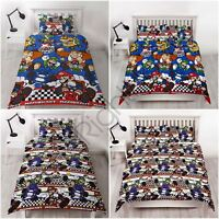 NINTENDO MARIO RACER DUVET COVER SET REVERSIBLE BEDDING - SINGLE & DOUBLE
