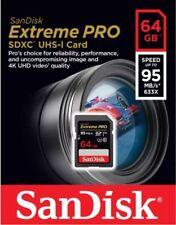 SanDisk 64GB 95MB/s Extreme Pro SDXC Memory Card UHS-I  SD U3 633x 4K UHD