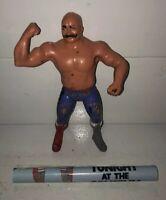 WWF LJN Wrestling Superstars IRON SHEIK w/POSTER Wrestler Figure Villain Heel