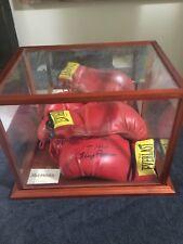 3 Vintage Signed Boxing Gloves Ali Muhammad  Ortiz Holmes Patterson Lamotta