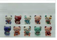 NEW 2020 AMAZING MINIATURE PORCELAIN,LUCKY CAT WITH COLOFULL COLLECTION SET*
