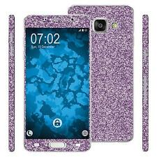 1 x glitter foil set for Samsung Galaxy A3 (2016) A310 purple protection film