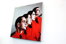KRAFTWERK CANVAS EXTRA-LARGE SIZE 50X50 CM THE MAN MACHINE 1978 ULTRACULT BAND!!