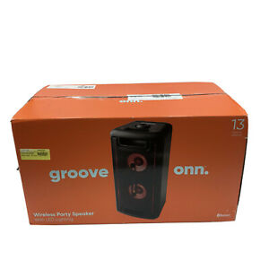 Groove ONN 80W Large Party Speaker with LED Lighting - Black.  Bluetooth